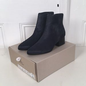 Urban Outfitters Calf Hair Navy Boot